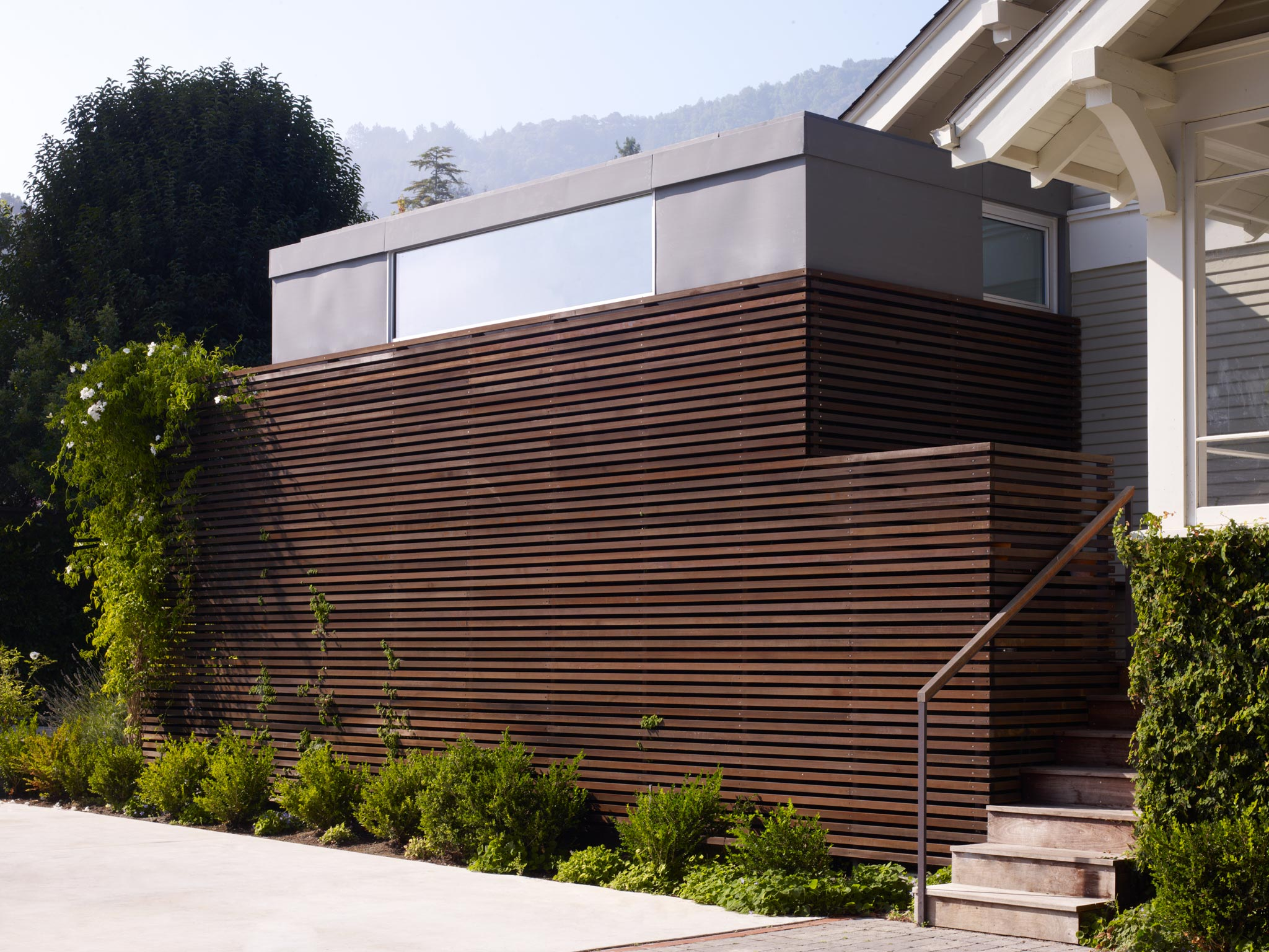 Larkspur modern design minimalist addition street view