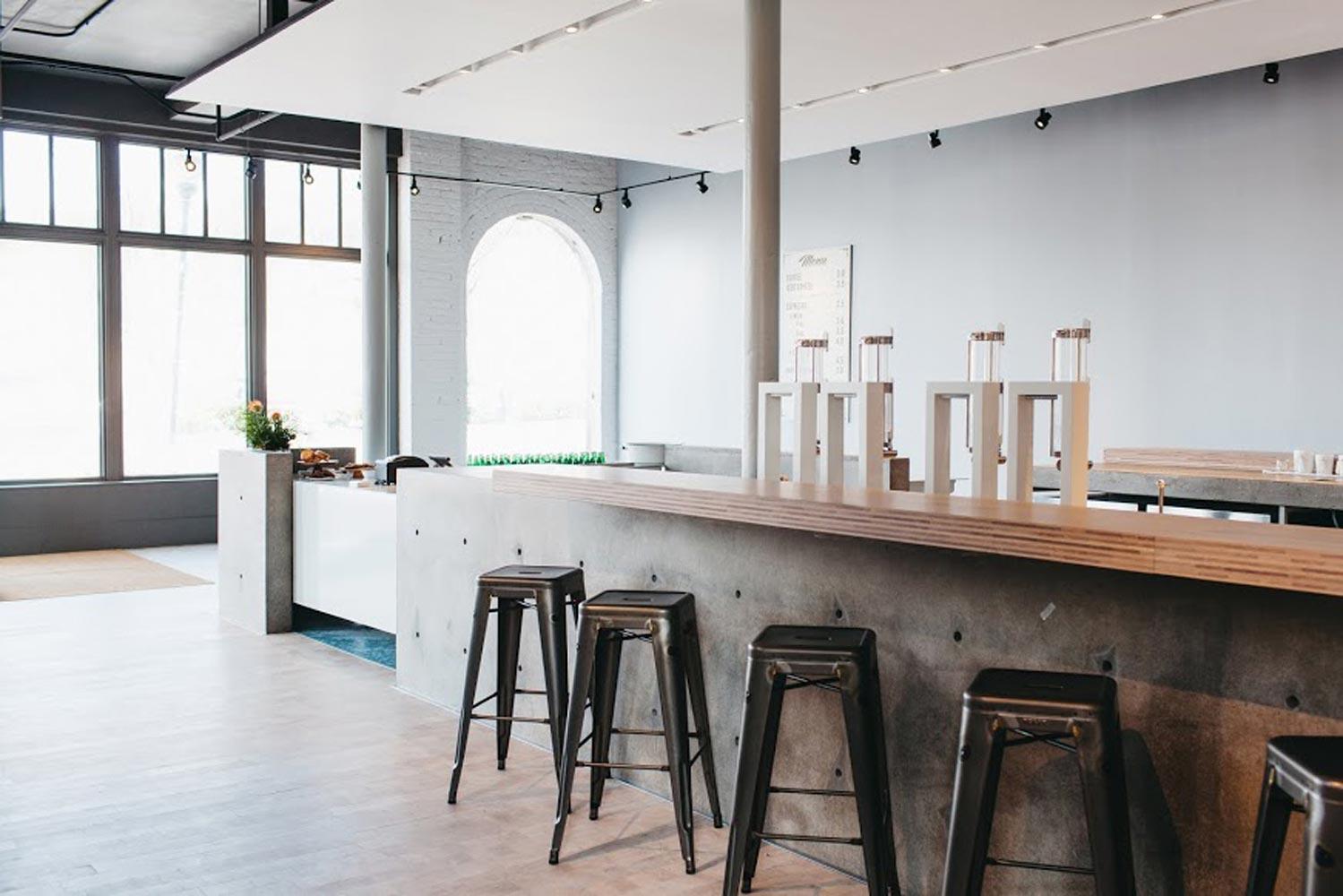 Revelator Chattanooga modern coffee shop inside view of bar area