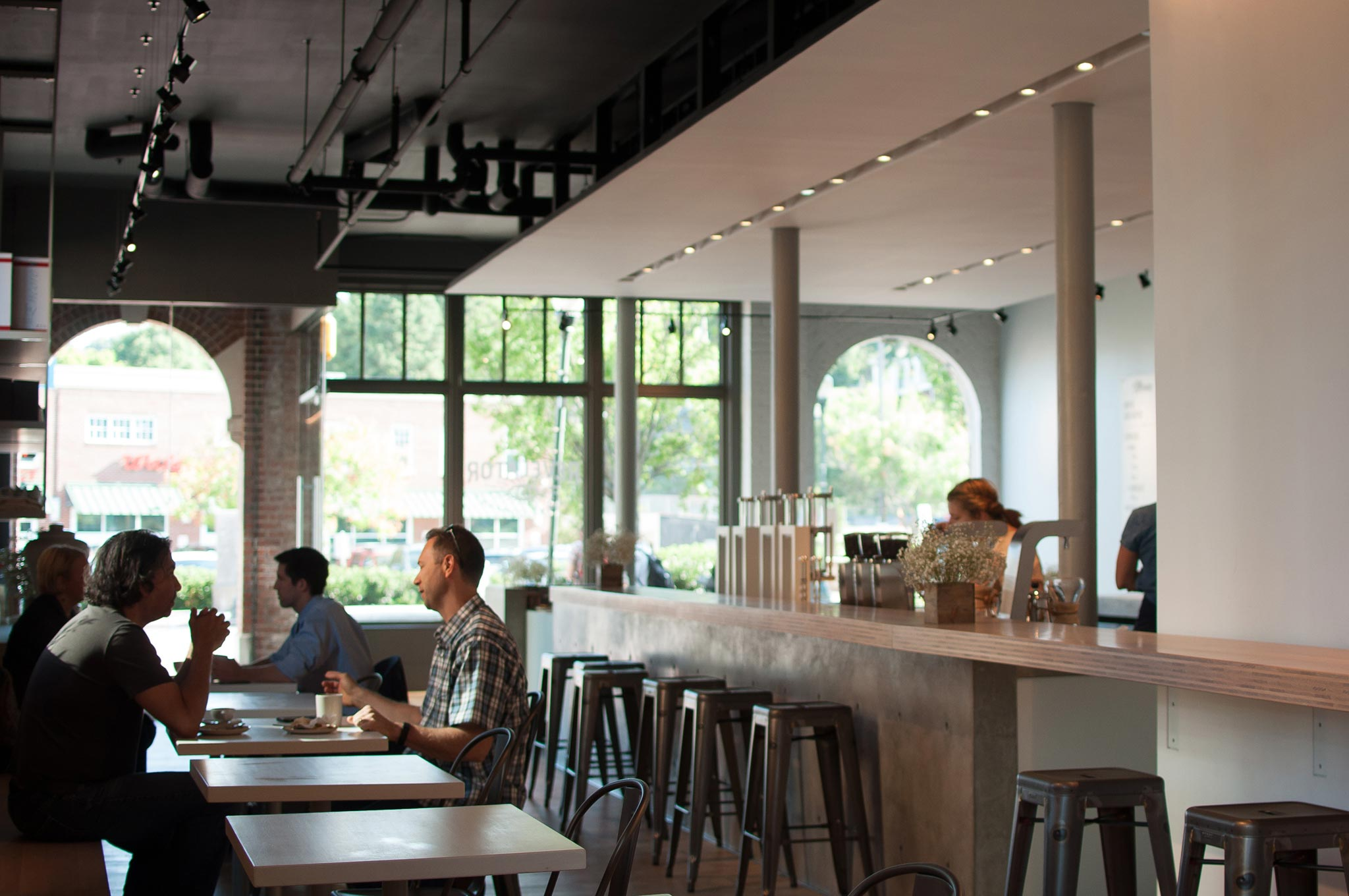 Revelator Chattanooga modern coffee shop inside view of busy coffee shop