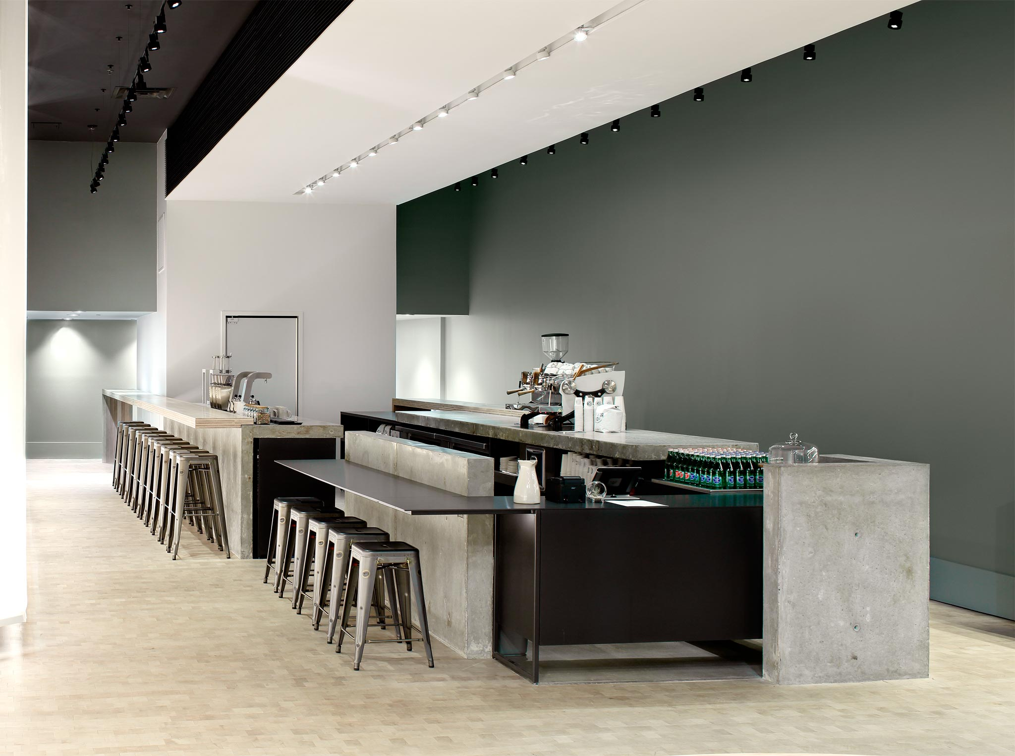 Revelator Birmingham modern coffee shop inside shot of empty coffee shop