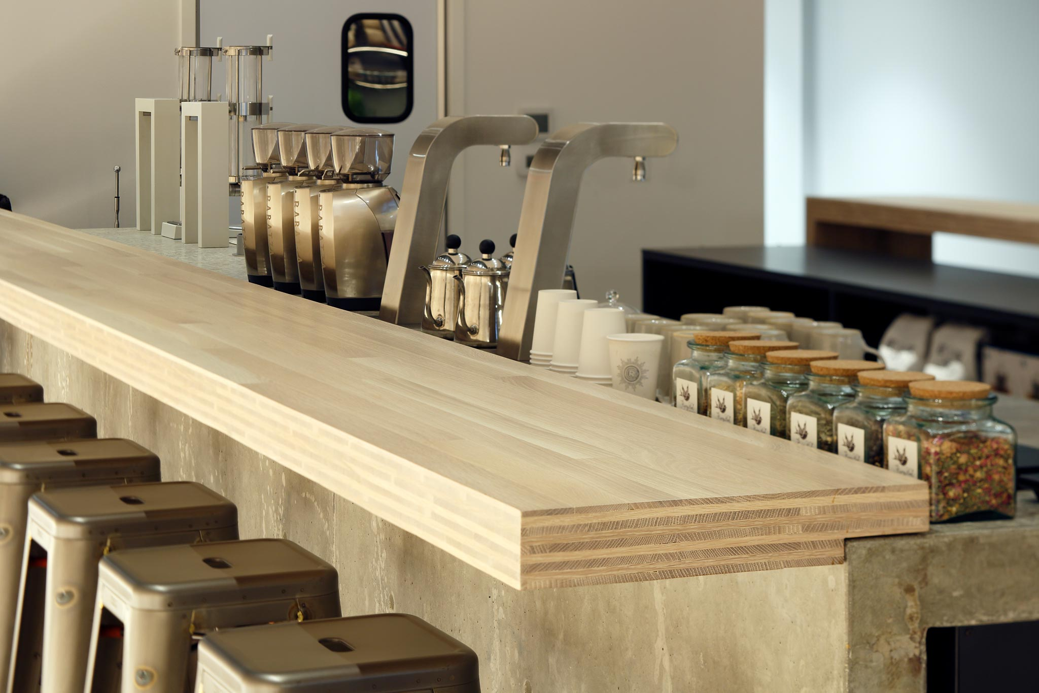 Revelator Birmingham modern coffee shop inside view of bar