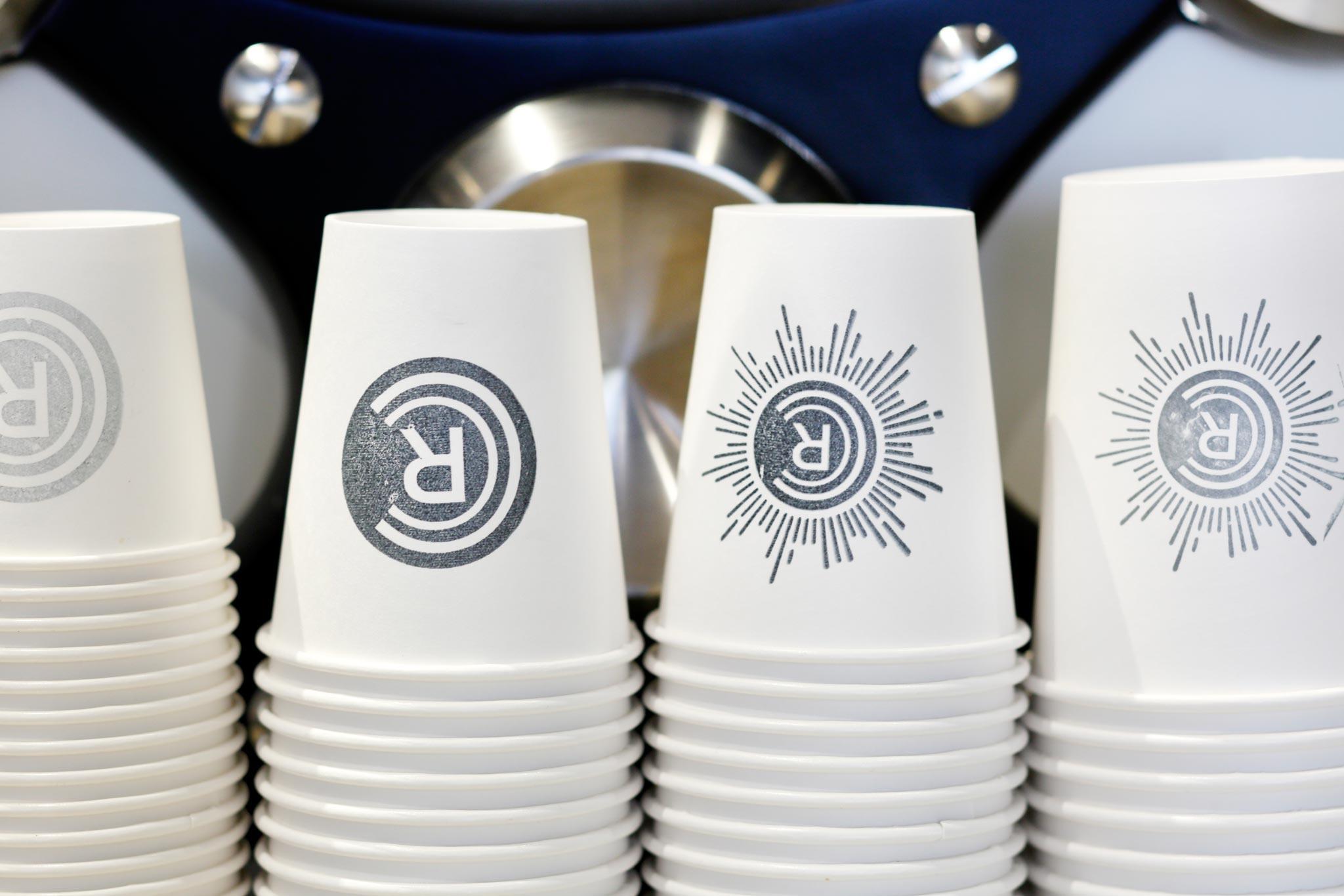 Revelator Birmingham modern coffee shop close up of coffee cups