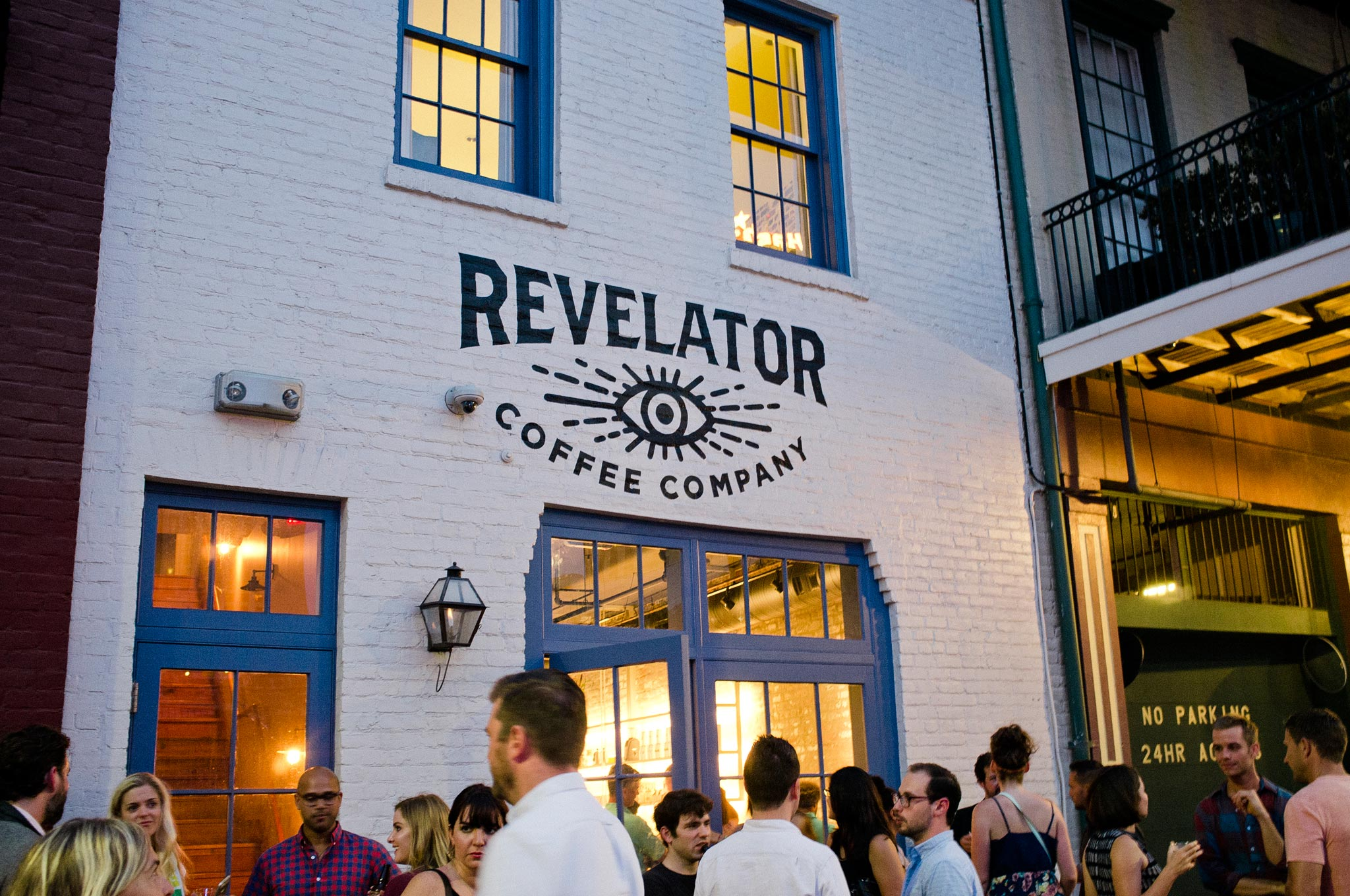Revelator New Orleans stylish coffee bar street view of building front