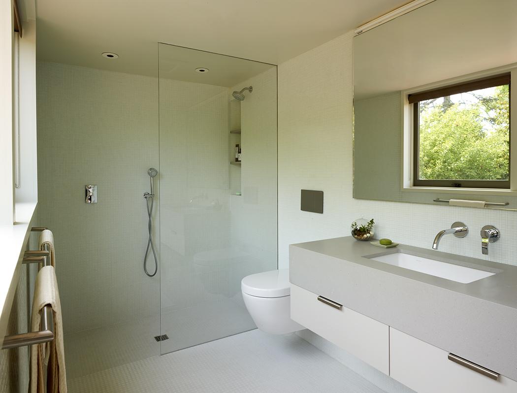 Berkeley Ridge midcentury modern home inside view of bathroom