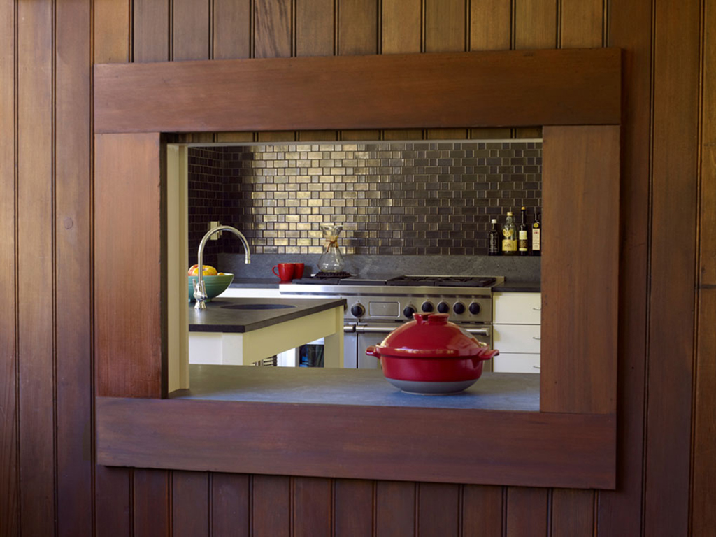 Blithedale Canyon craftsman home revival inside view of kitchen detail