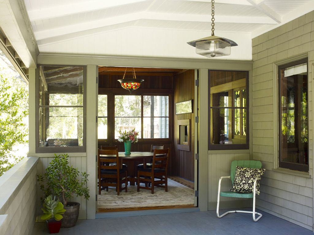 Blithedale Canyon craftsman home revival inside view of dining table