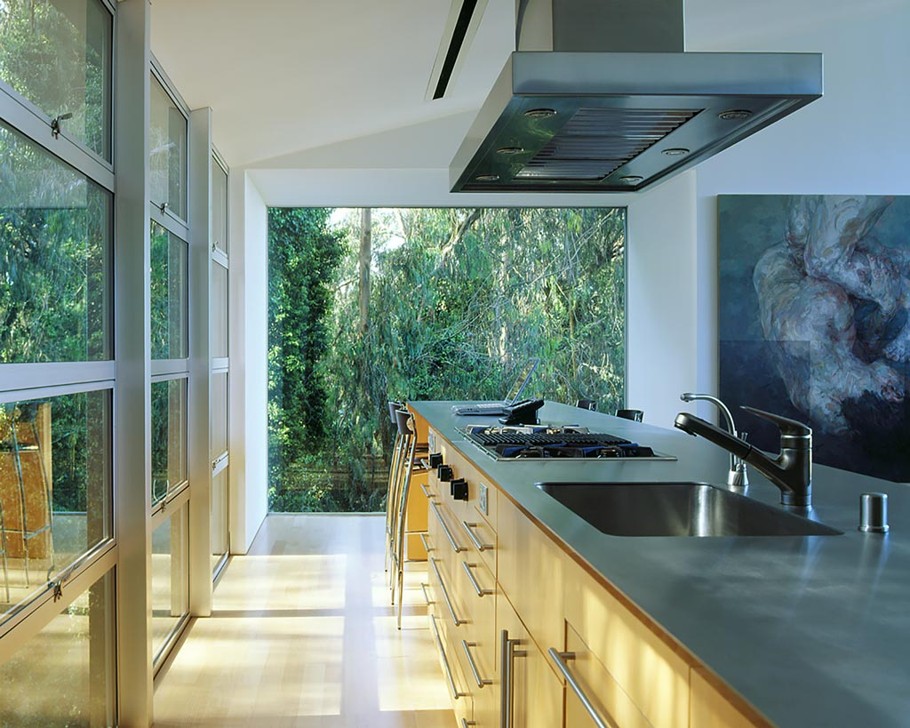 Twin Peaks sophisticated retreat inside view of kitchen area