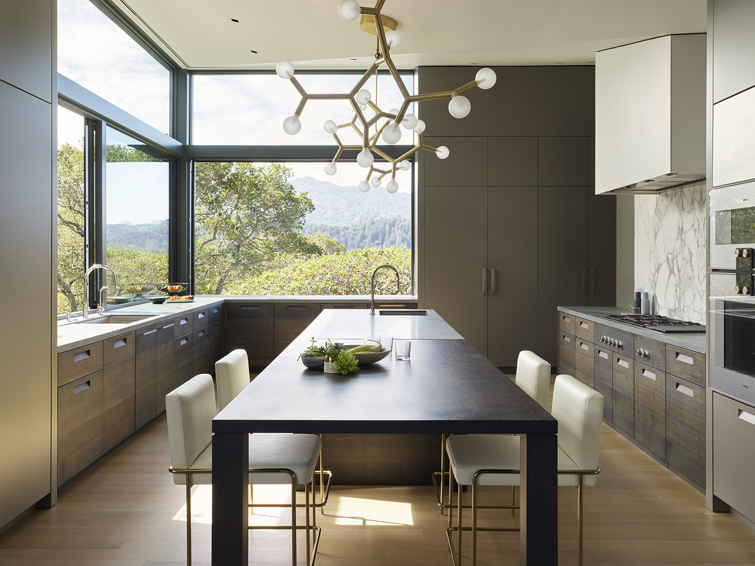 Ross Hillside modern home inside view of kitchen