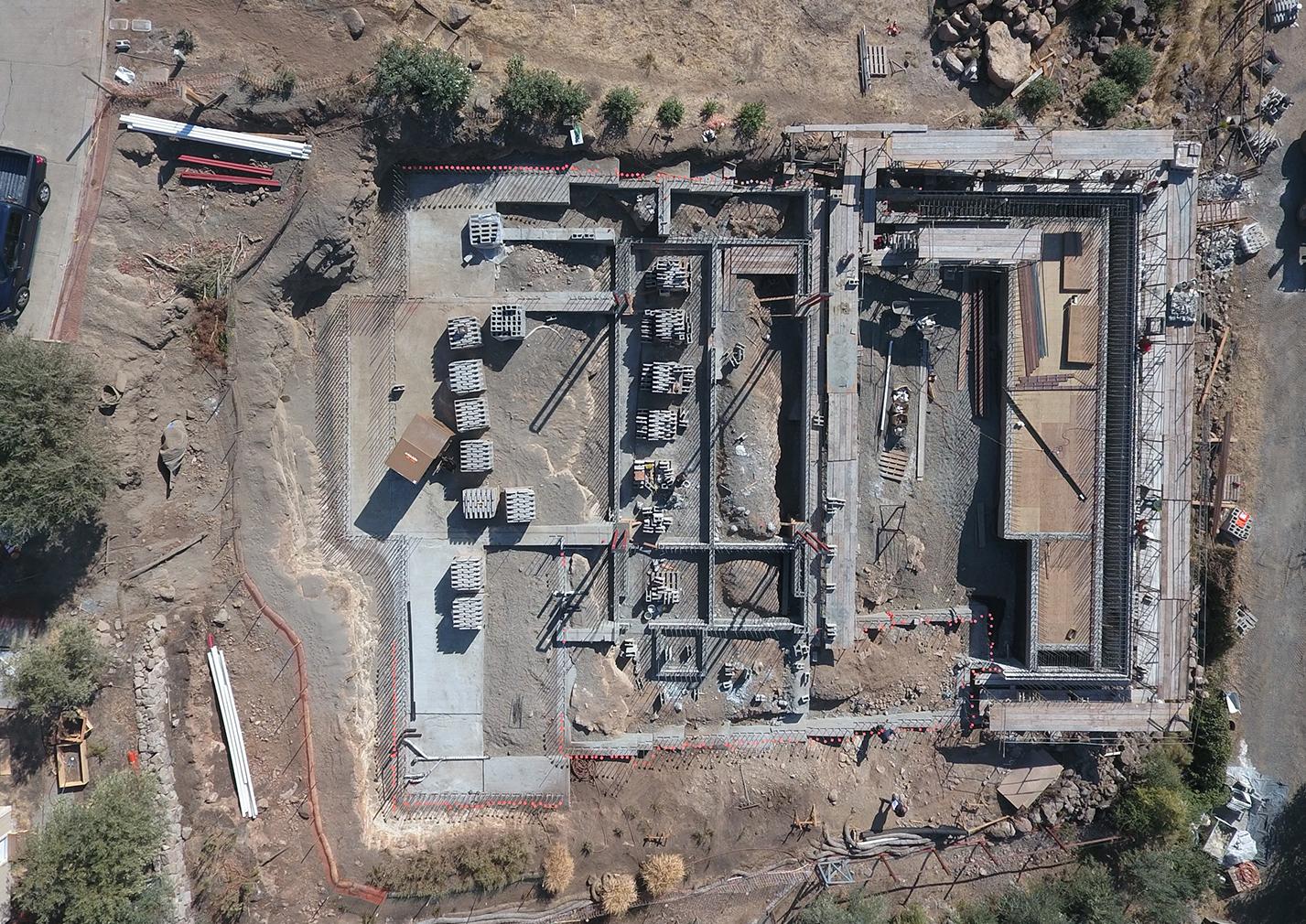 Silverado construction site, aerial vue